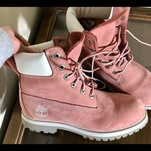 Timberland new size 7 PINK work combat boots HTF
